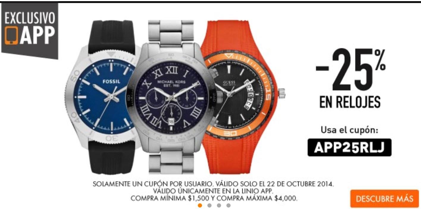 APP LINIO: -25% en relojes