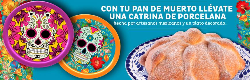 El Globo: gratis un plato de porcelana comprando 1 pan de muerto