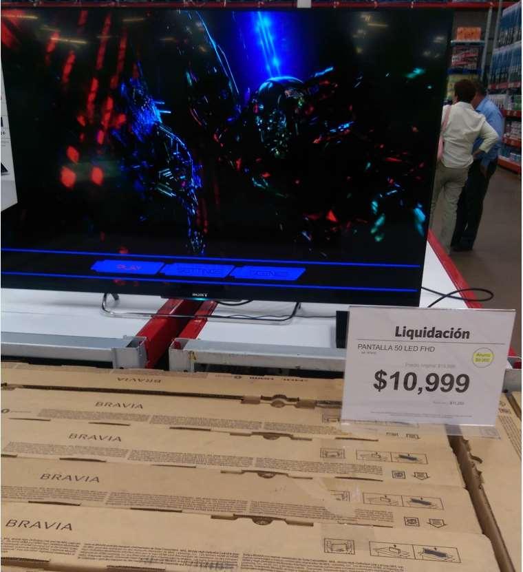 """Sam's Club: liquidacion pantalla 3D LED Smart TV Sony de 50"""" W80B $10,999"""