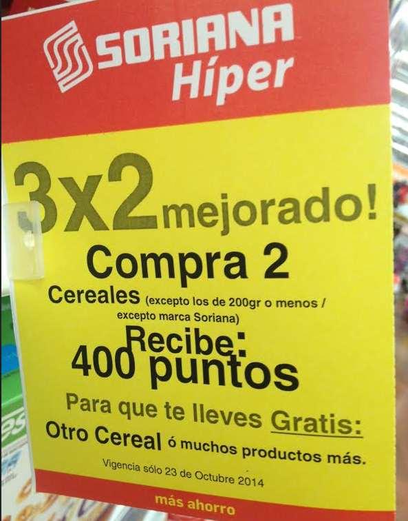 Soriana Híper: 3x2 en cereales
