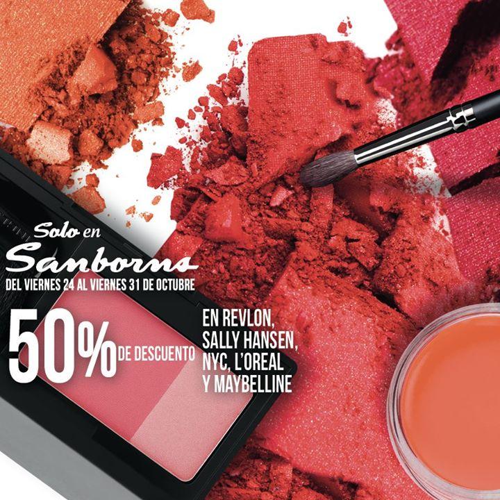 Sanborns: 50% de descuento en cosméticos Revlon, L'Oréal, NYC y más