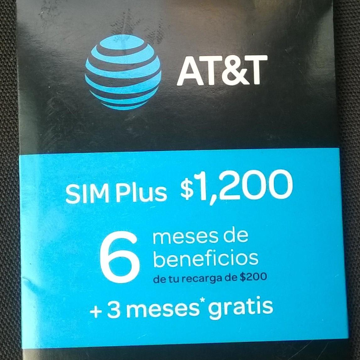 Walmart Xalapa: Sim Plus AT&T 9 Meses a $595.01