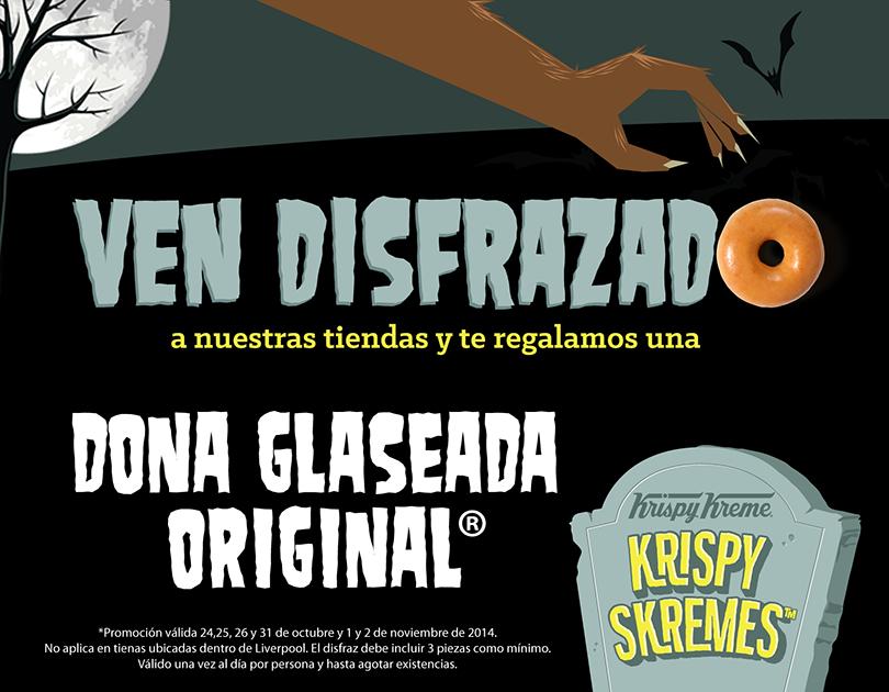 Krispy Kreme: gratis dona por ir disfrazado además 18 donas pagando 12