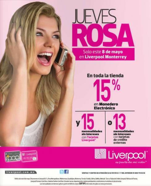 Liverpool: jueves rosa 7 de agosto