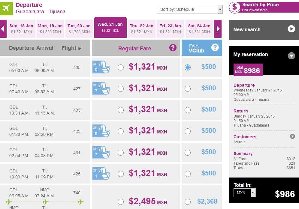 Volaris: vuelos desde $499 enero y febrero con VClub