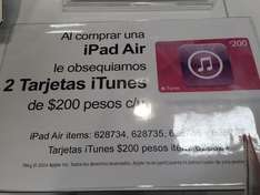 Costco: iPad Air con 2 tarjetas iTunes de $200 y al parecer Smart cover*