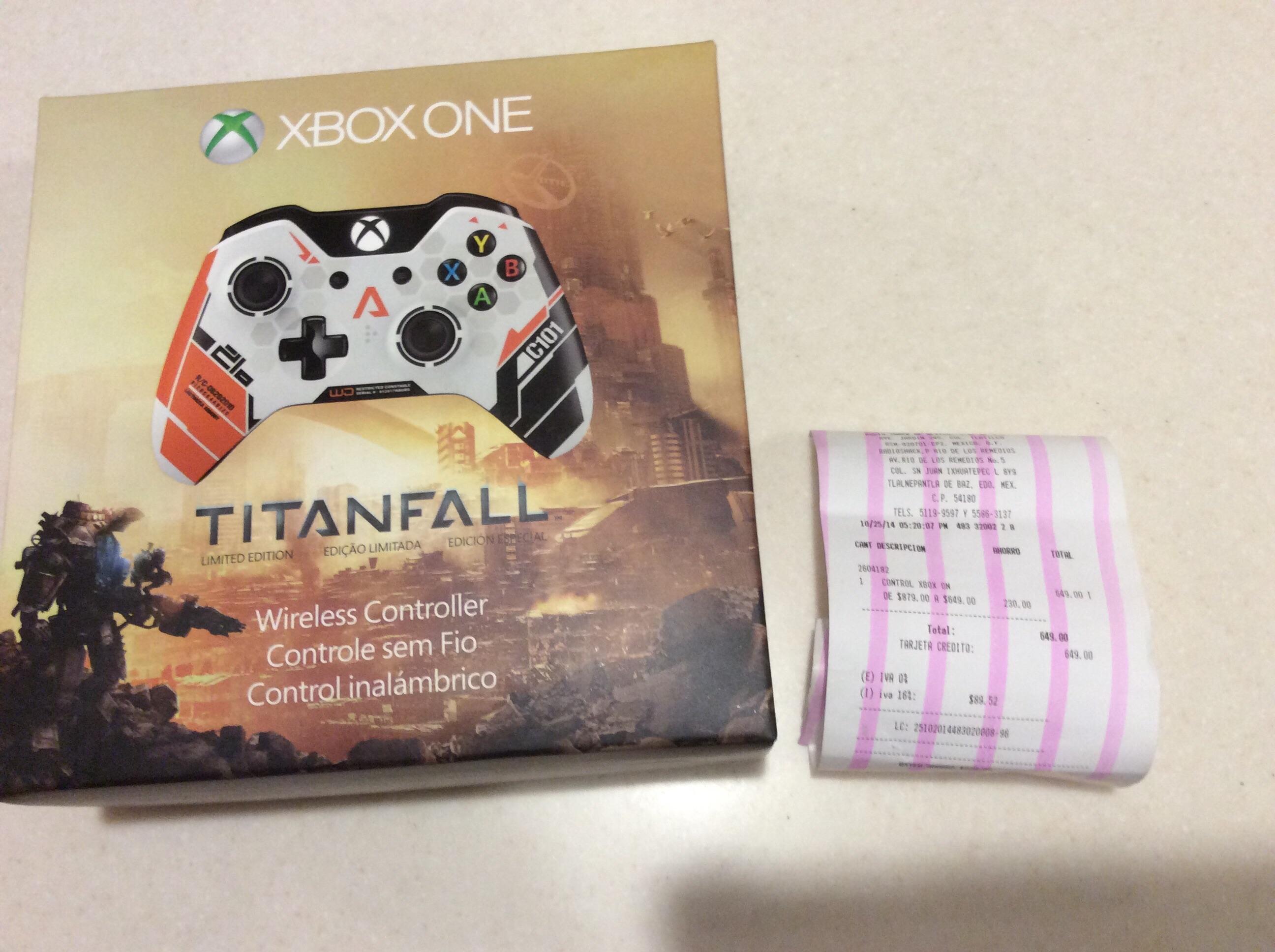 RadioShack: Control Xbox One edición Titanfall en $649