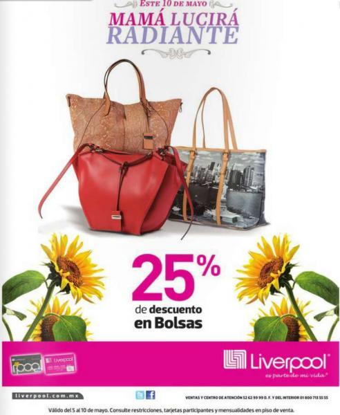 Liverpool: 25% de descuento en bolsas y 15% en ropa de graduación
