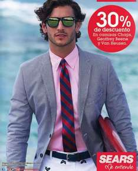 Sears: 30% de descuento en camisas Chaps, Geoffrey Beene y Van Heusen
