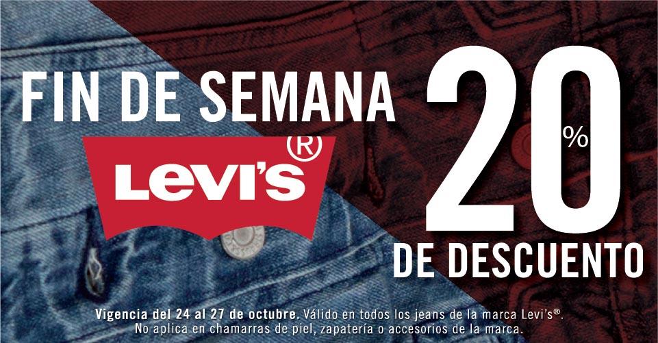 Suburbia: Jeans levis 20% descuento