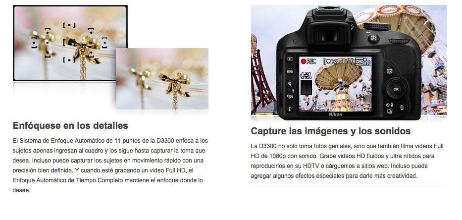 Linio: Camara Reflex Nikon D3300 $5,759