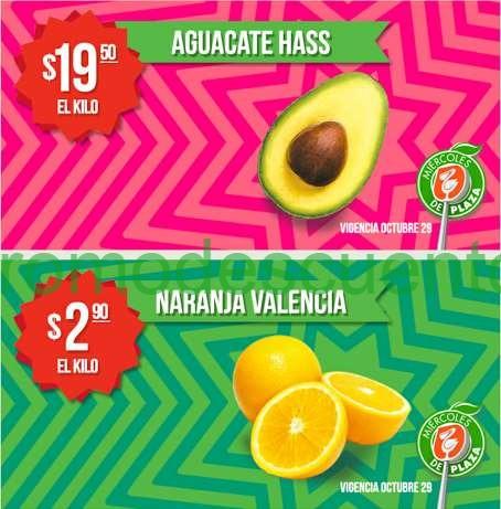 Miércoles de Plaza en La Comer octubre 28: naranja $2.90 el kilo y más