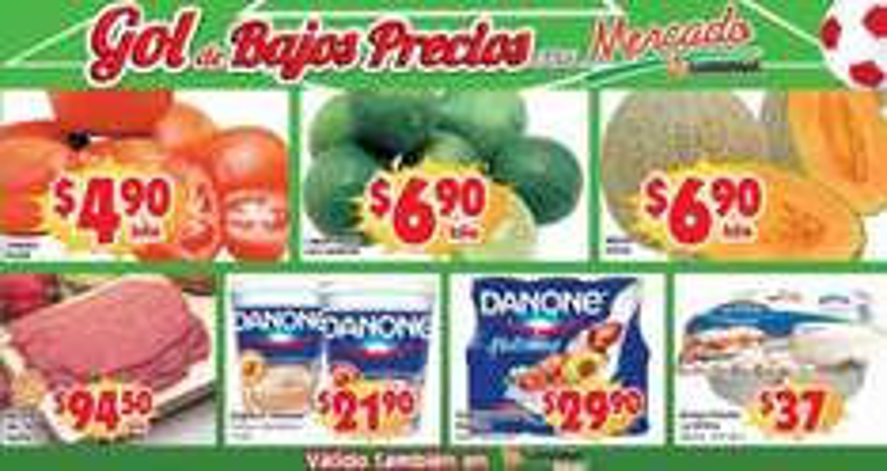 Ofertas de frutas y verduras en Soriana 6 y 7 de mayo