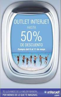 Outlet Interjet del 6 al 11 de mayo