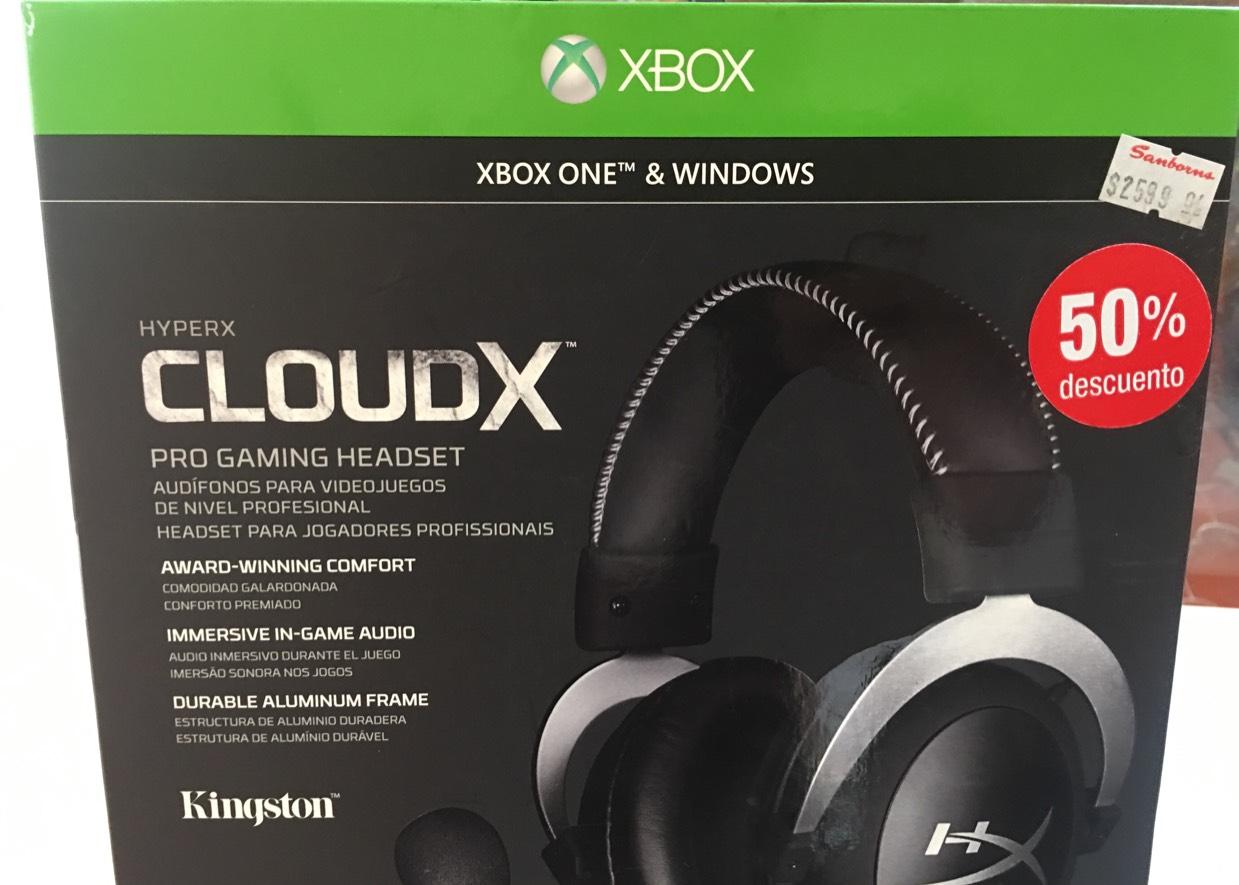 Sanborns galerías insurgentes: Hyper X CloudX Pro Gaming Headset a 1,169