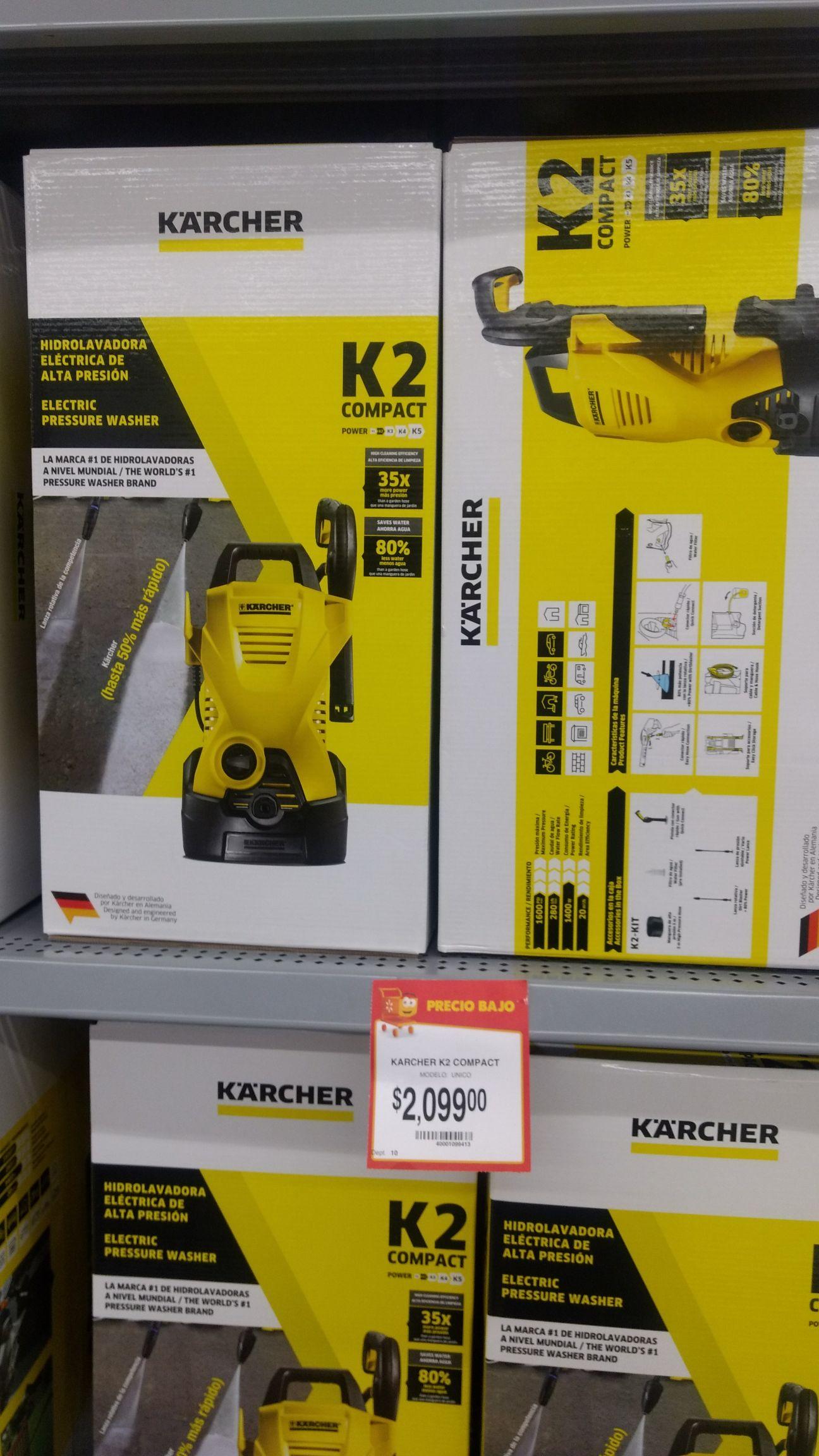 Walmart: hidrolavadora Karcher K2 Compact a $2,099
