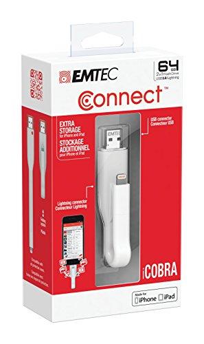 Amazon: Memoria Emtec 64GB USB 3.0 (3.1 Gen 1) y entrada Lightning