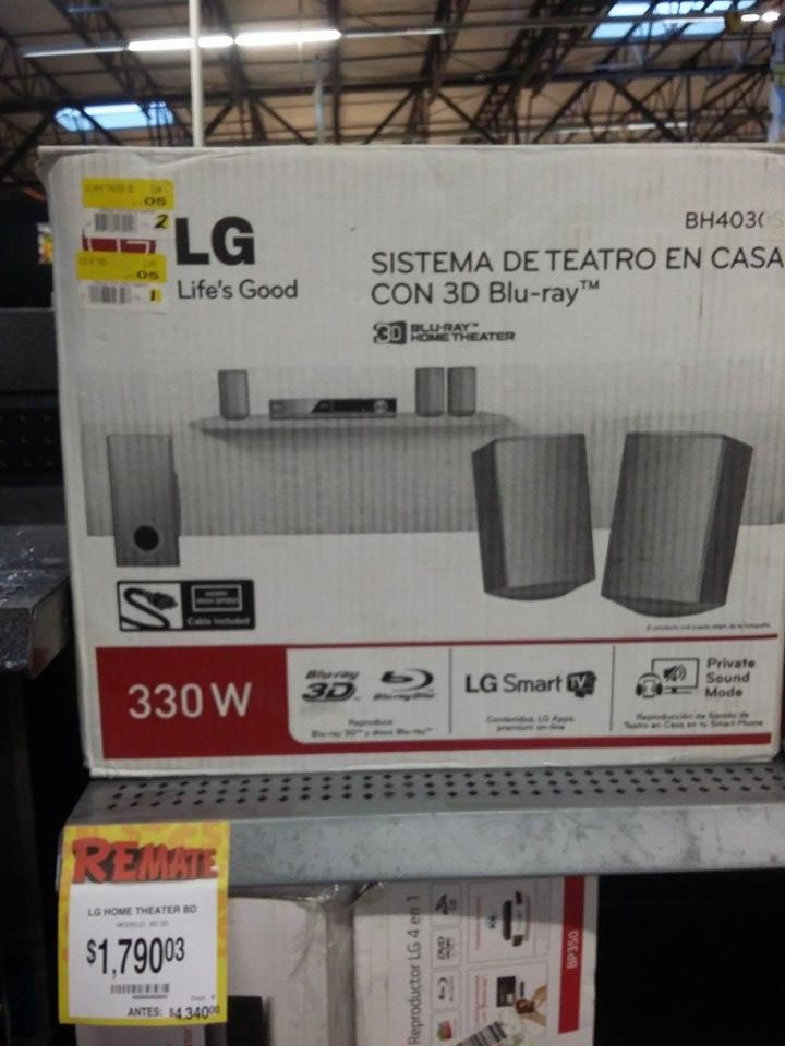 Bodega Aurrerá: Sistema de Teatro en Casa con Blu-ray con Smart TV marca LG, de $4340 a $1790.03