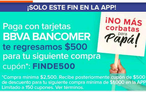 Linio: cupón de $500 al pagar con Bancomer desde la App