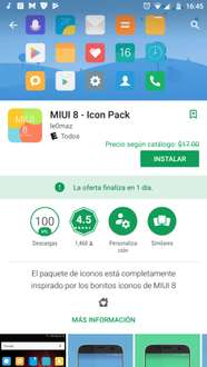 Google Play: Miui 8 - Icon Pack gratis