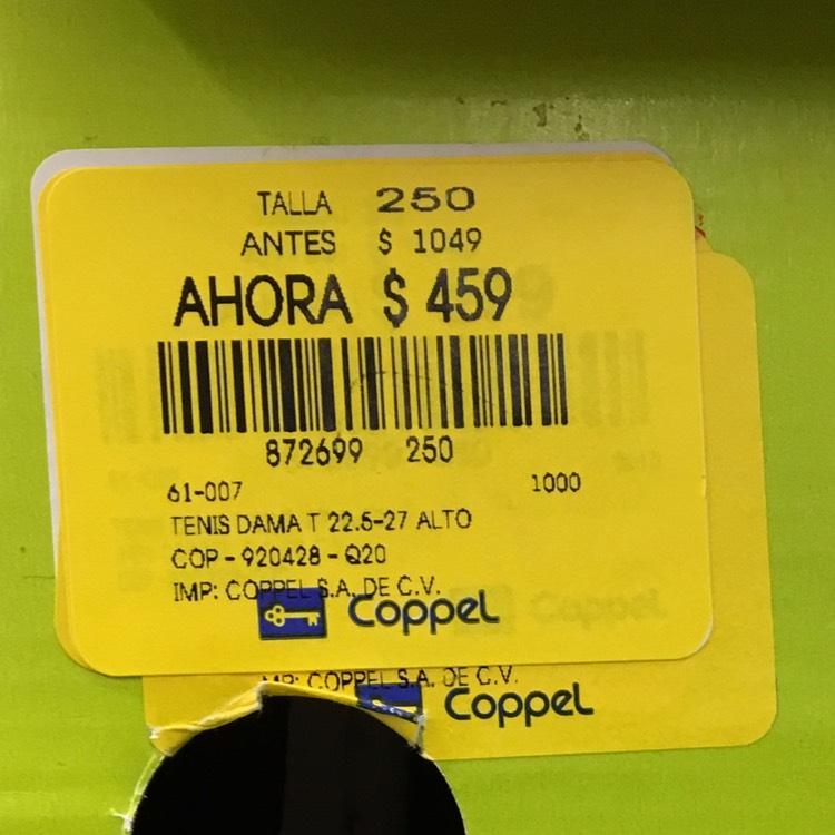 Tenis Adidas dama de 1049 a 459 varios números Coppel iguala