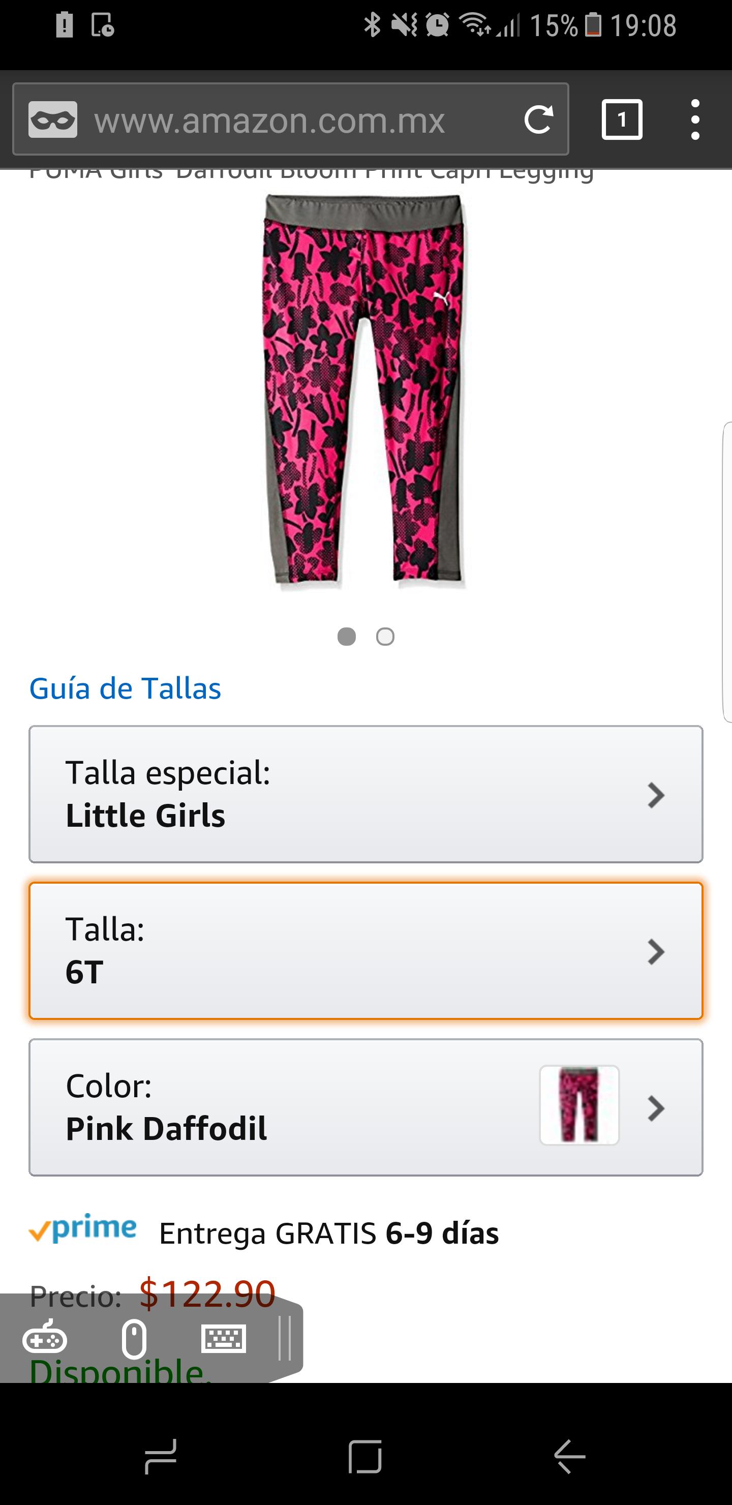 Amazon: Capri Puma niña talla 6