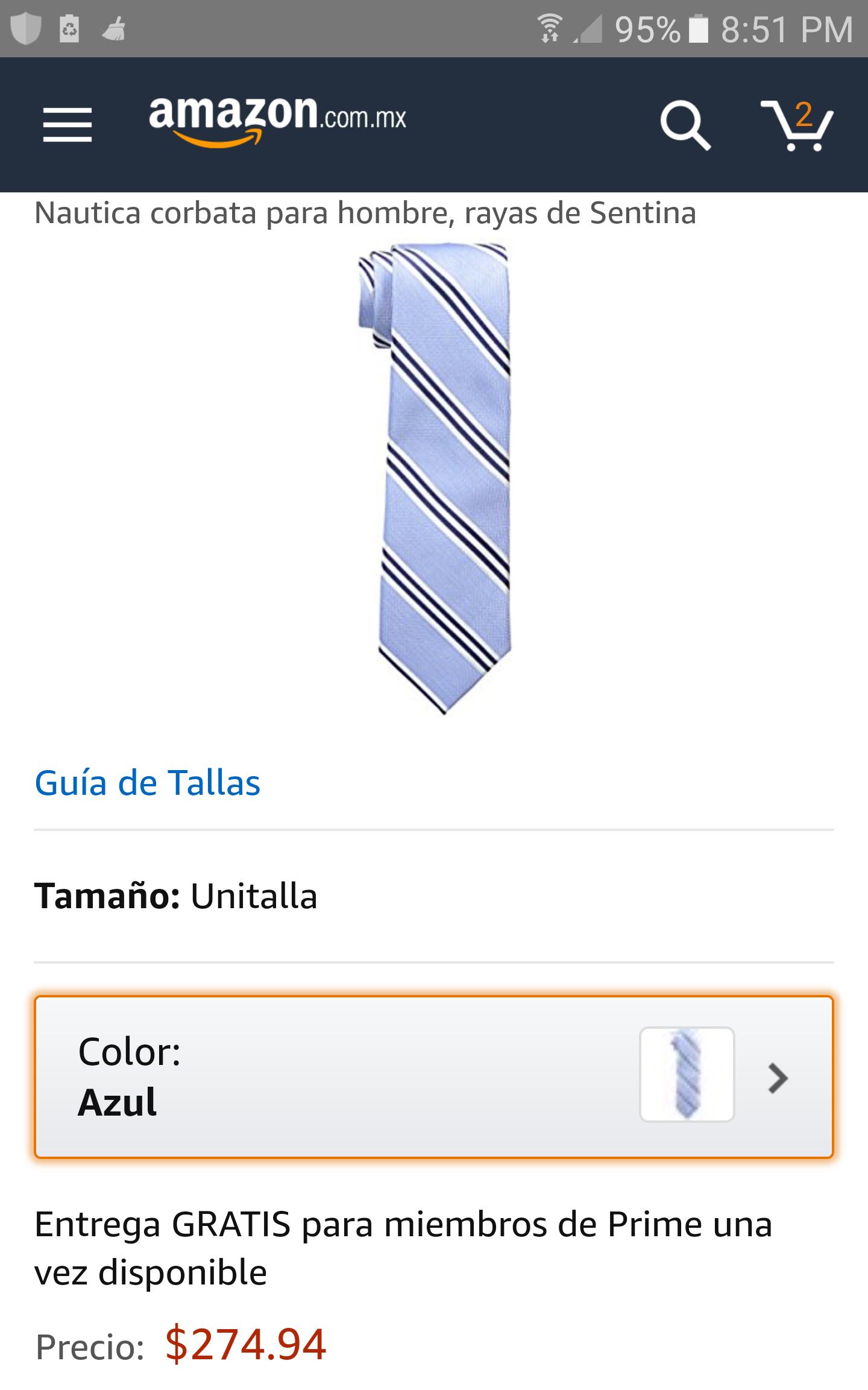Amazon: Corbatas Nautica: Varios colores