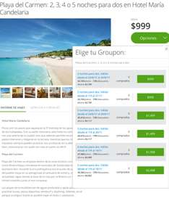 Groupon: Hotel María Candelaria Playa del Carmen desde $999 por 2 noches