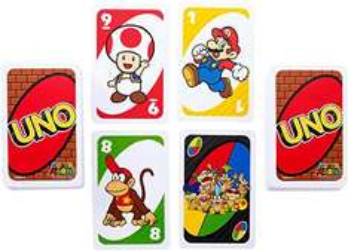 Amazon: juego de cartas uno personajes de nintendo