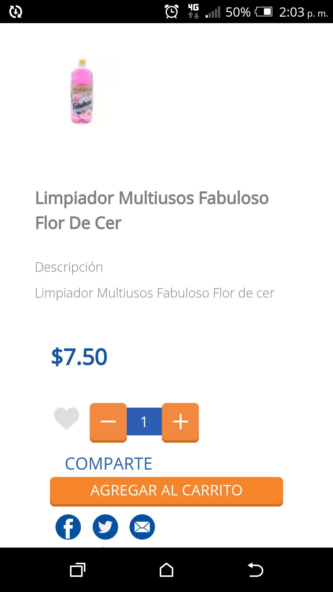 Chedraui Cuernavaca: Limpiador Multiusos Fabuloso 1.2 lts