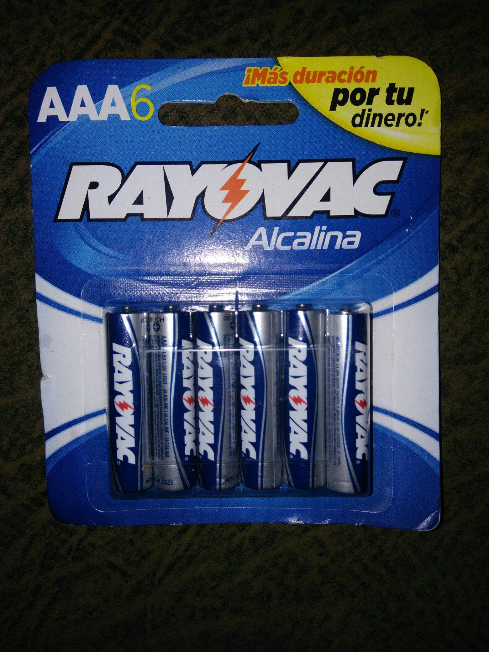 Bodega Aurrerá: pilas AAA Rayovac a $0.03