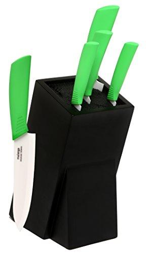 Amazon: Cuchillos melange 6 piezas(5 cuchillos y base)