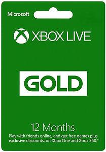 eBay: 12 meses de xbox live gold