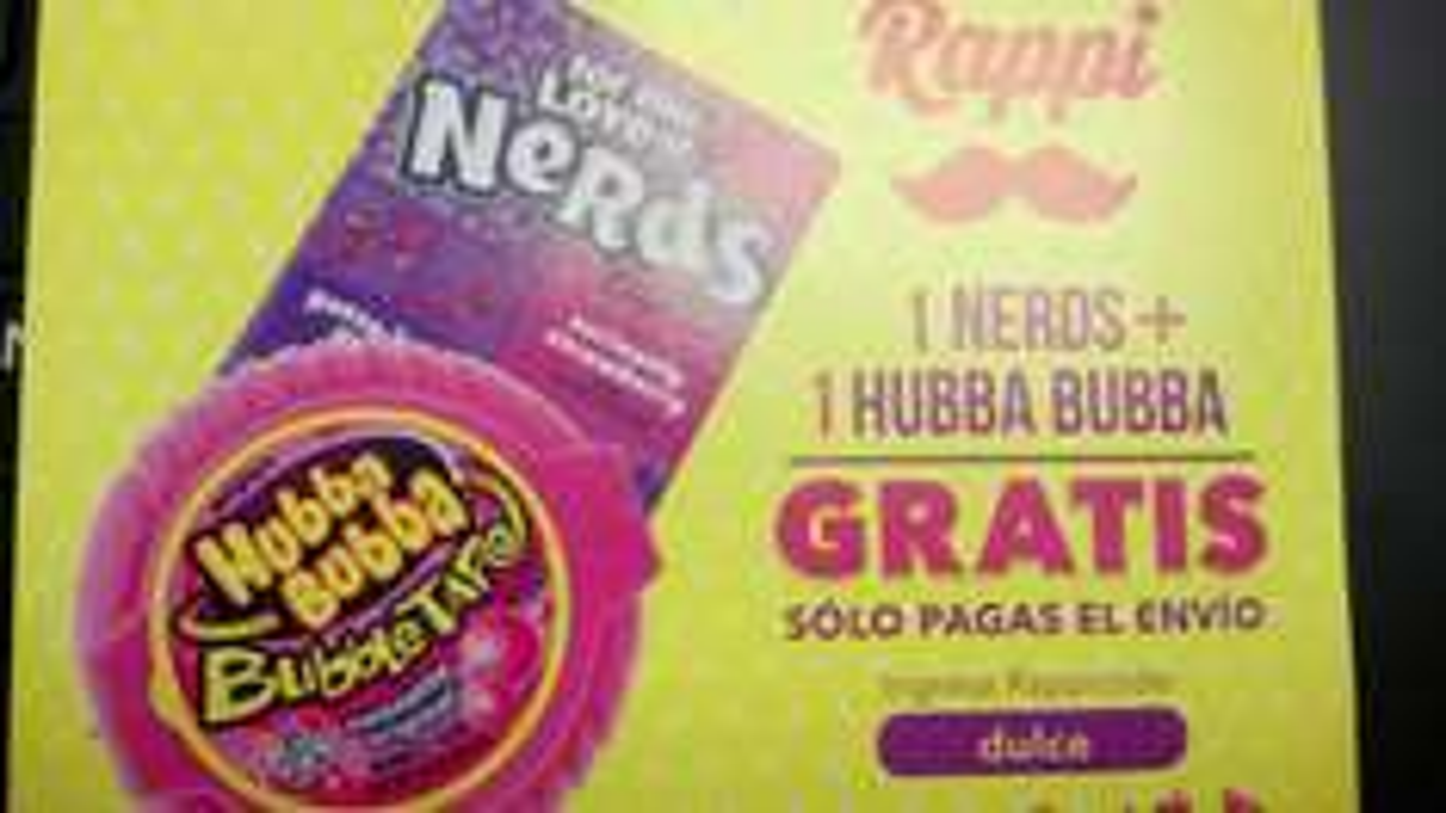 Rappi: 1 Nerds + 1 Hunna Bubba GRATIS