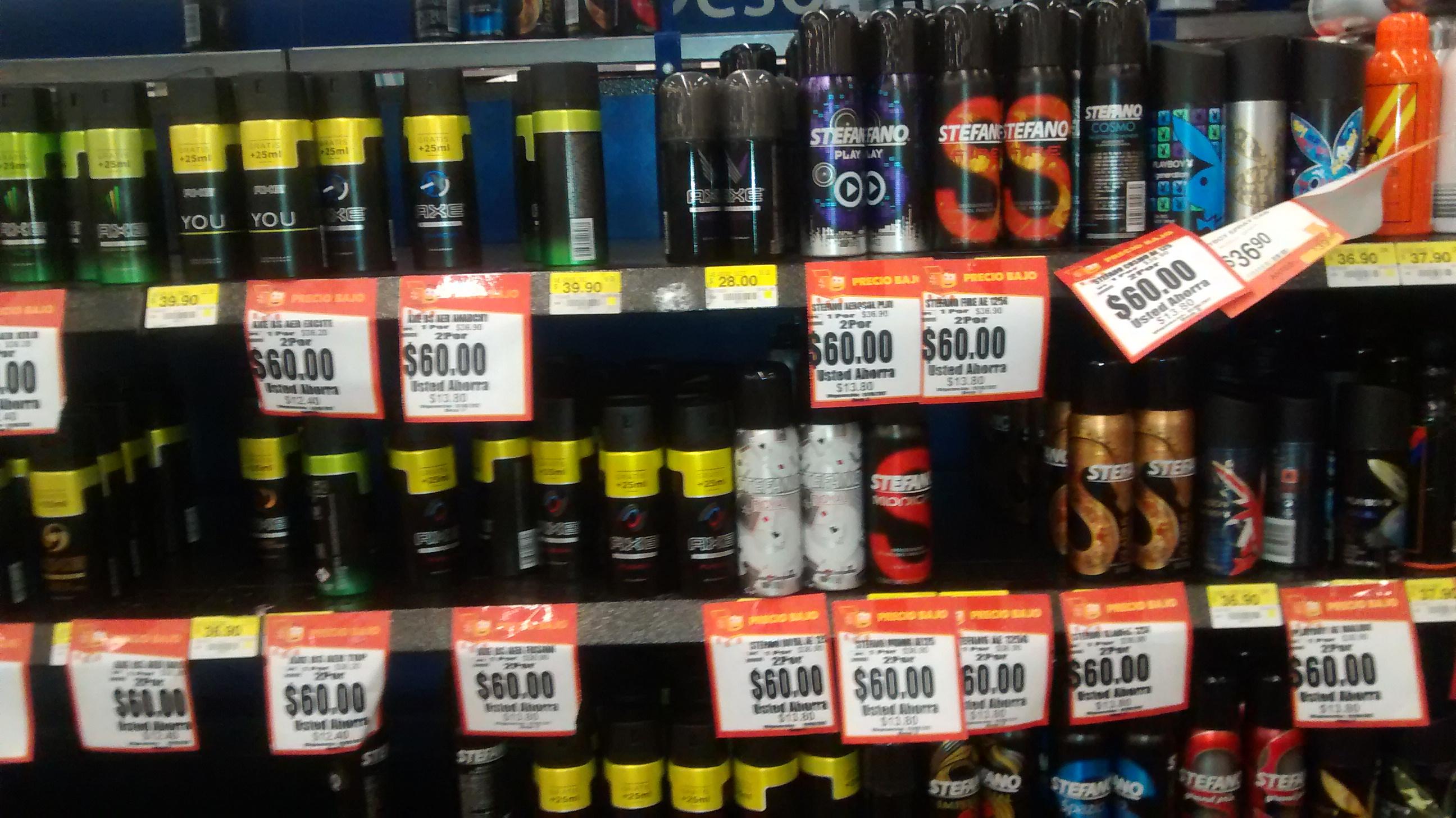 Walmart: desodorantes varios 2x60