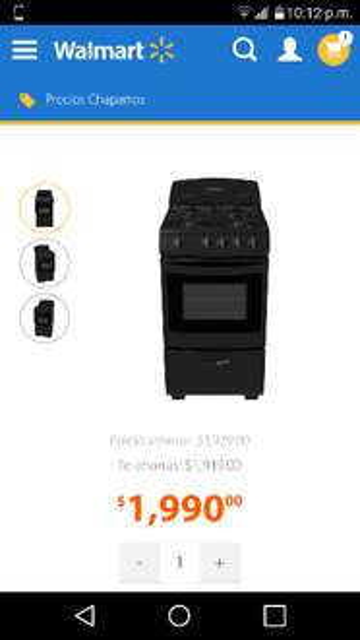 Walmart: Estufa de Piso Mabe de 51cm  EM5107NN4 a $1,990