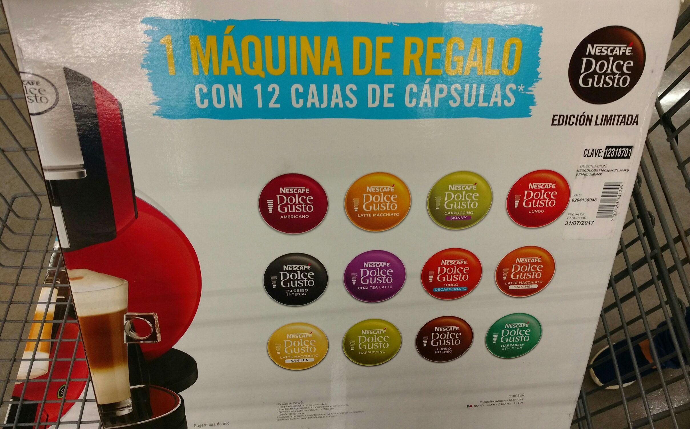 Walmart: Cafetera Dolce Gusto con 12 cajas de cápsulas
