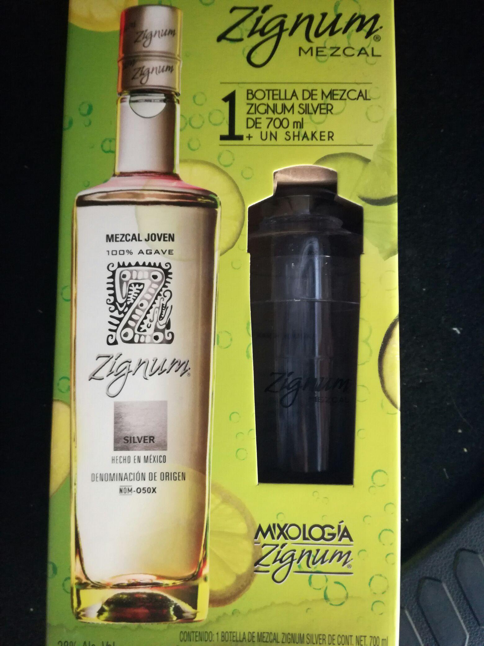 Superama: Mezcal Zignum Silver de 750ml paquete Mixologia a $62.01