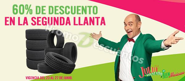 Julio Regalado 2017 en Soriana y Comercial Mexicana: 60% de descuento en la segunda llanta