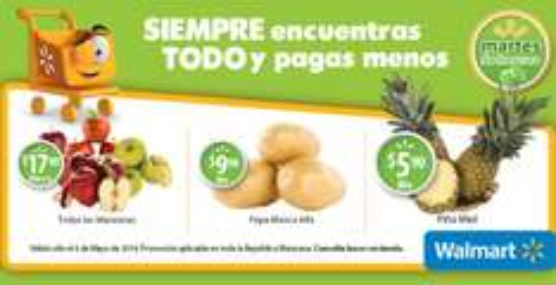 Martes de frescura en Walmart mayo 6: piña $5.90 el kilo y más