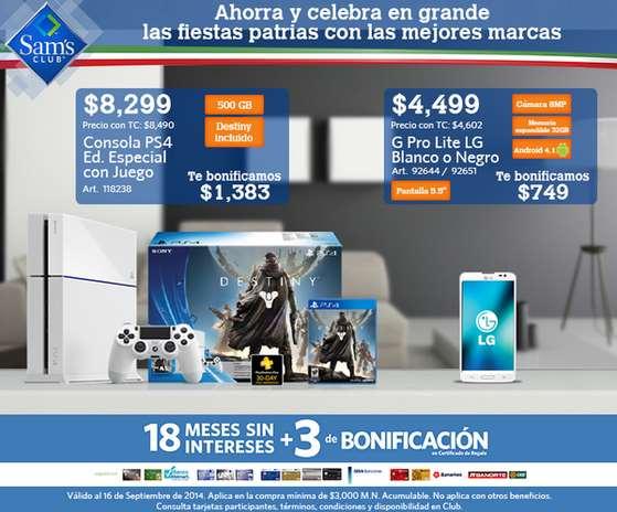 PS4 + Destiny desde $6,667 y 18 meses sin intereses después de bonificación