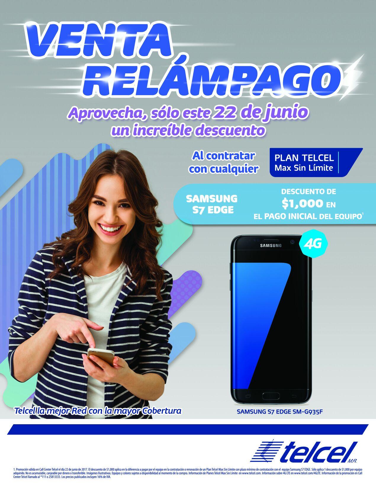 Telcel en línea o chat: Sólo por hoy $2,000 de descuento en renovación de plan telcel Htc 10 y Galaxy S7 Edge