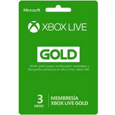 Gamers: Xbox Live Gold 3 meses + 1 mes + Rocket League