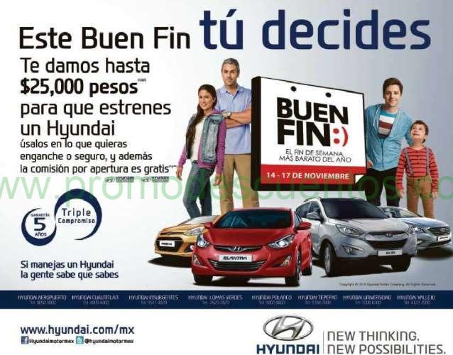 Ofertas del Buen Fin 2014 en Hyundai