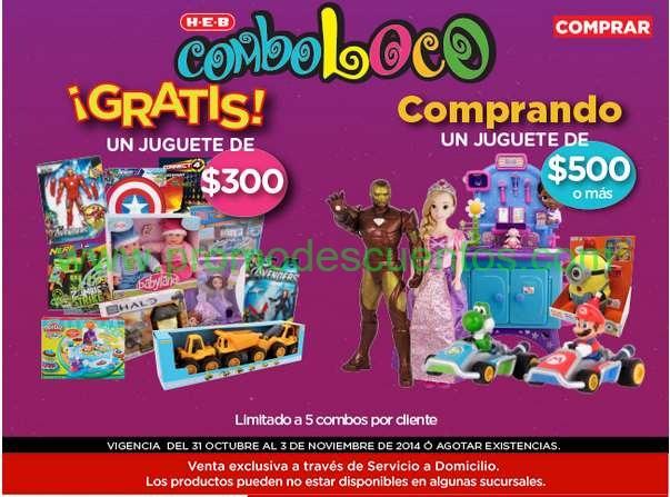 HEB online: juguete de hasta $300 gratis comprando uno de $500 o más