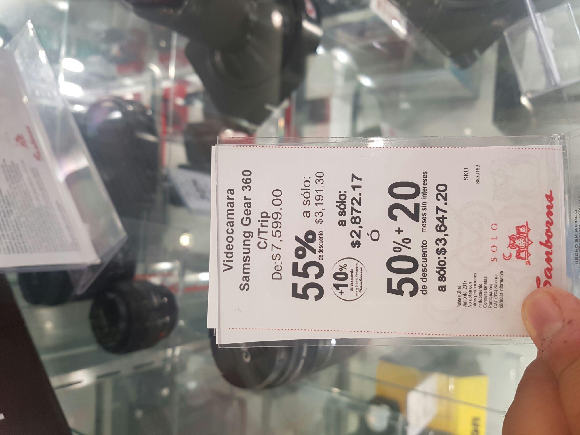 Sanborns: Cámara 360 Gear Samsung a $3,191