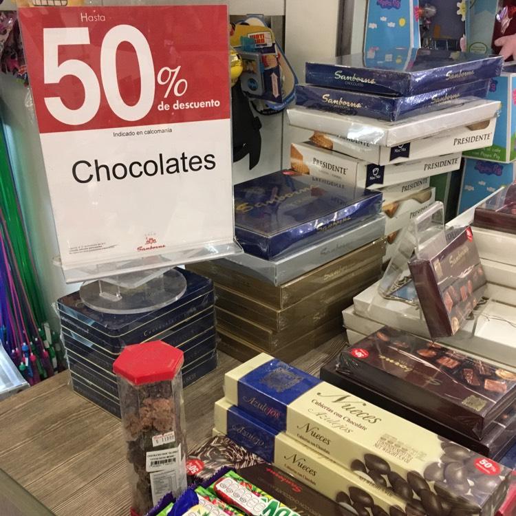 Sanborns Galerías Monterrey: Variedad de chocolate 50%