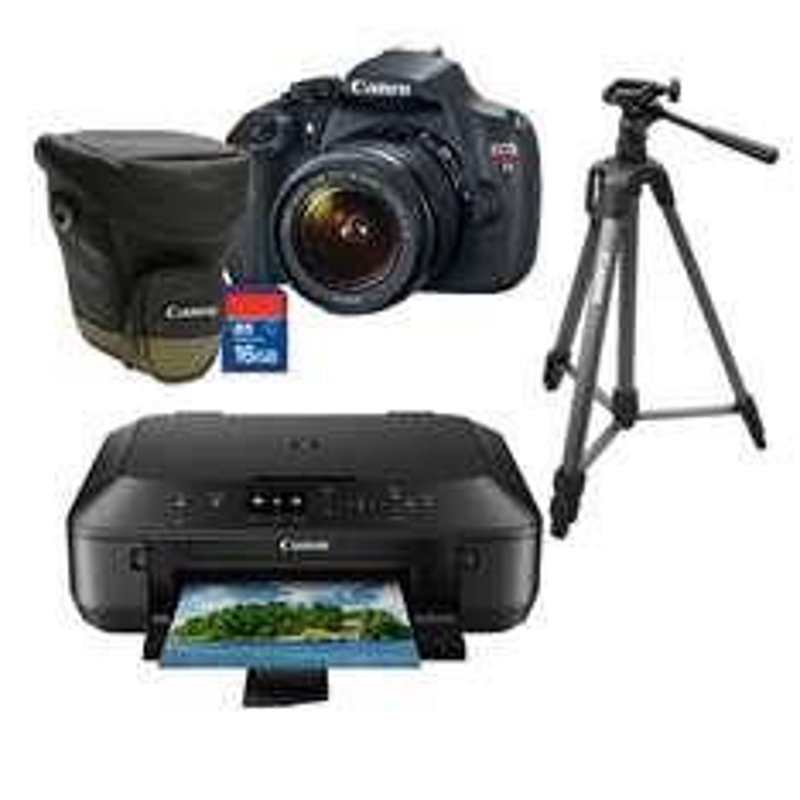 Linio: Kit Canon T5 con Tripie Estuche y Lente 18-55mm $10,140