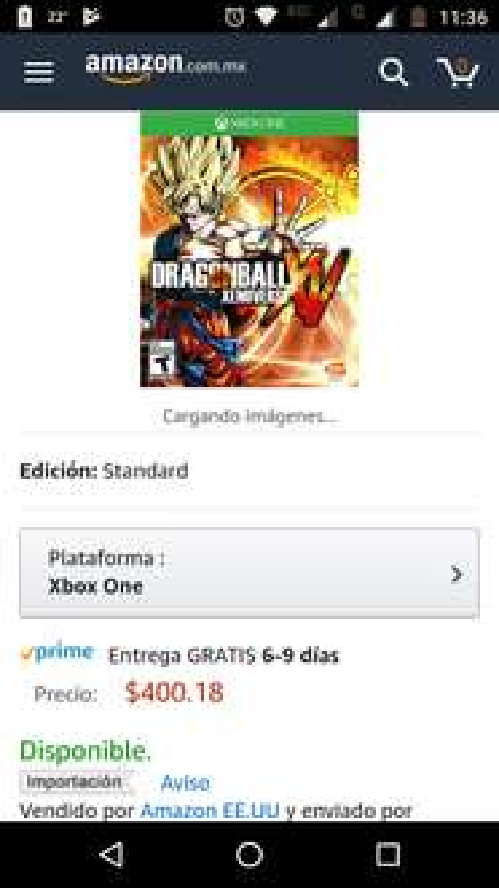 Amazon: Dragon Ball Xenoverse para Xbox One con Prime