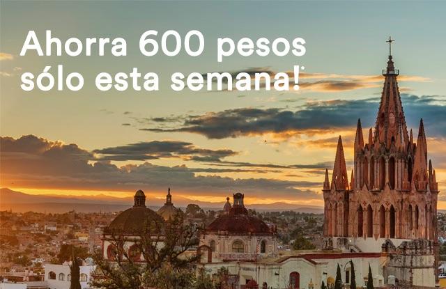 Airbnb: -$600 en compras de $2,000 (servicio de rentas vacacionales)